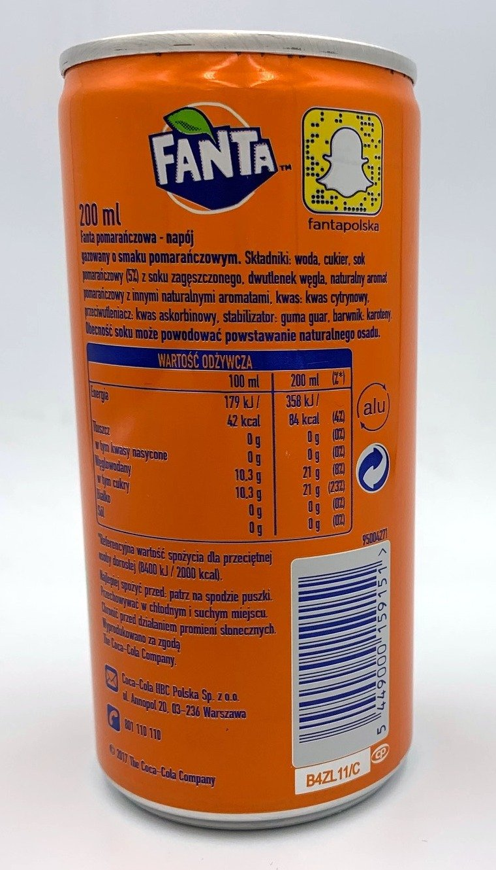 Fanta Orange 200 ml CAN SLEEK