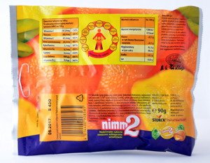 nimm2 Stuffed sweet orange and lemon enriched with vitamins 90 g