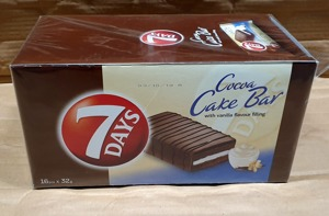 7 DAYS Cocoa Cake Bar with a vanilla-flavored filling 32g