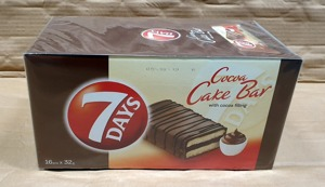 7 DAYS Cocoa Cake Bar with cocoa filling 32g