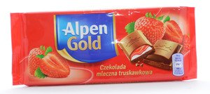 Alpen Gold Milk Chocolate Strawberry 90 g