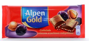 Alpen Gold Milk nut-raisin 90 g