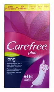 Carefree Plus Fresh Scent Long Extra Protection +3D Comfort 40