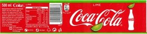 Coca Cola Lime PET 500 ml