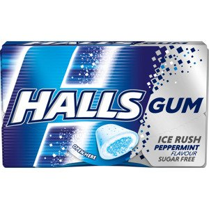 Halls Gum Ice Rush Peppermint Flavour Sugar Free 18 g