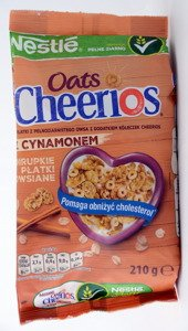Nestle Cereal Cheerios Oats Cinnamon  210 g
