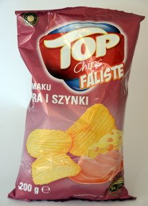 Top Wavy Chips with cheese and ham flavor 200 g