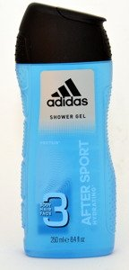 Adidas Pure Game 250 ml Shower Gel & Adidas After Sport 250 ml Shower Gel & Adidas Arena Edition 250 ml Shower Gel