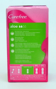 Carefree Aloe 3D Comfort 3x32szt  Pantyliners & Normal Cotton 3D Comfort 5 x 34szt & Fresh Scent Large Plus 4x28szt