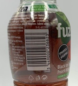 FUZETEA Black Ice Tea Peach Hibiscus PET 500 ml