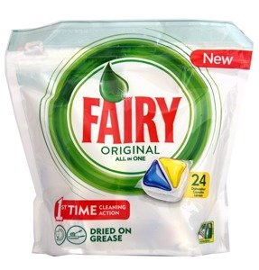 Fairy Original All In One 24 Dishwasher Capsules Lemon 338 g