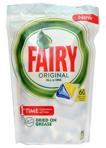 Fairy Original All In One 60 Dishwasher Capsules Lemon 844 g