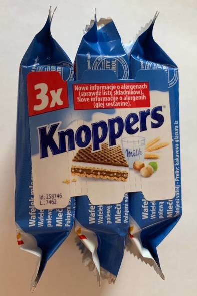 Knoppers 75g (25gx3)
