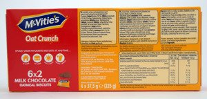 MsVitie's Digestive Milk Chocolate Oatmeal Biscuits 6x37,5g (225g)